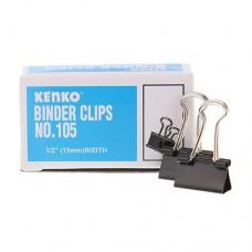 KENKO Binder Clip No. 105 Size 1/2 inch (15mm)